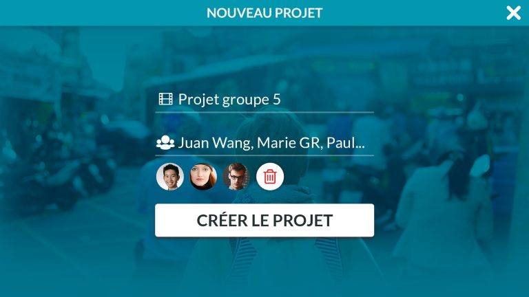 Créé votre projet et invitez vos collaborateurs